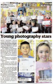 Stewart was at Kirkcudbright pre-school group recently to judge the children's art and photographic contest.